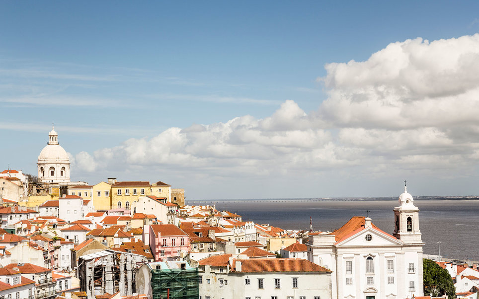View from miradouro de Santa Luzia, Lisbon, Portugal