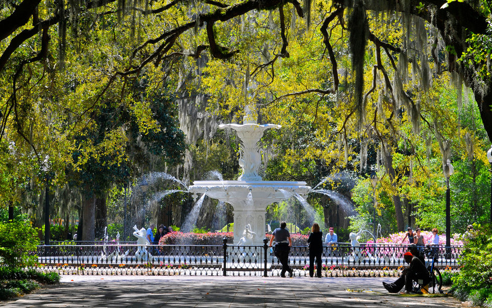 Fountain Forsyth Park Savannah Georgia
