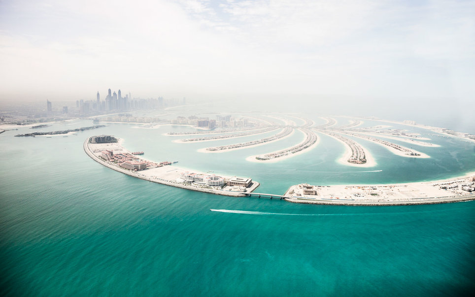 Palm JumeirahFrom Above