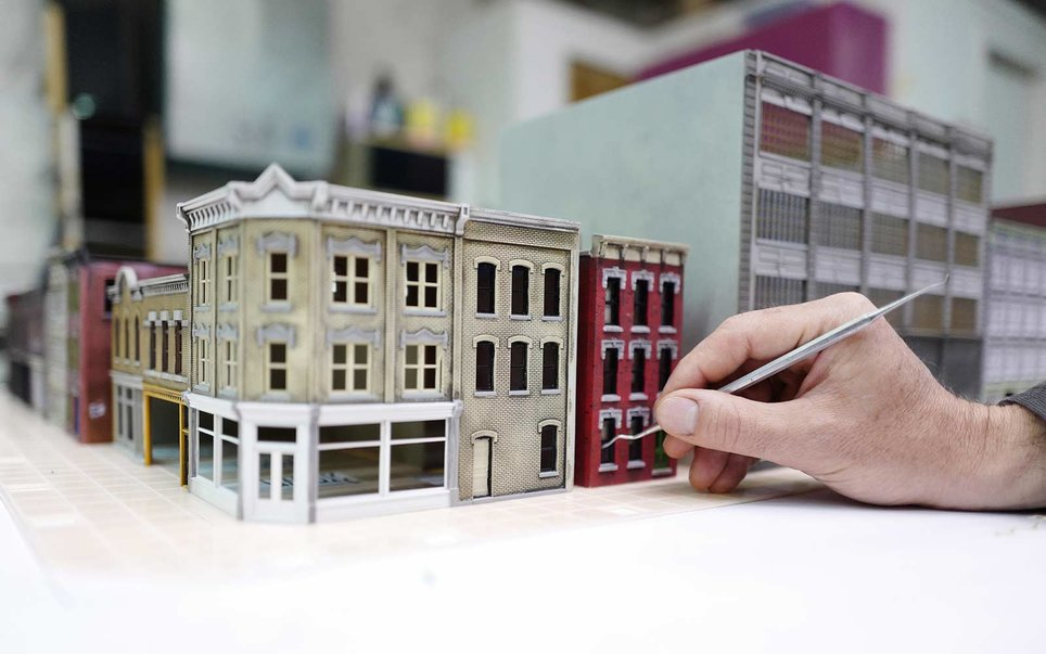There 39 s an entire miniature world that fills this new york for Model house nyc