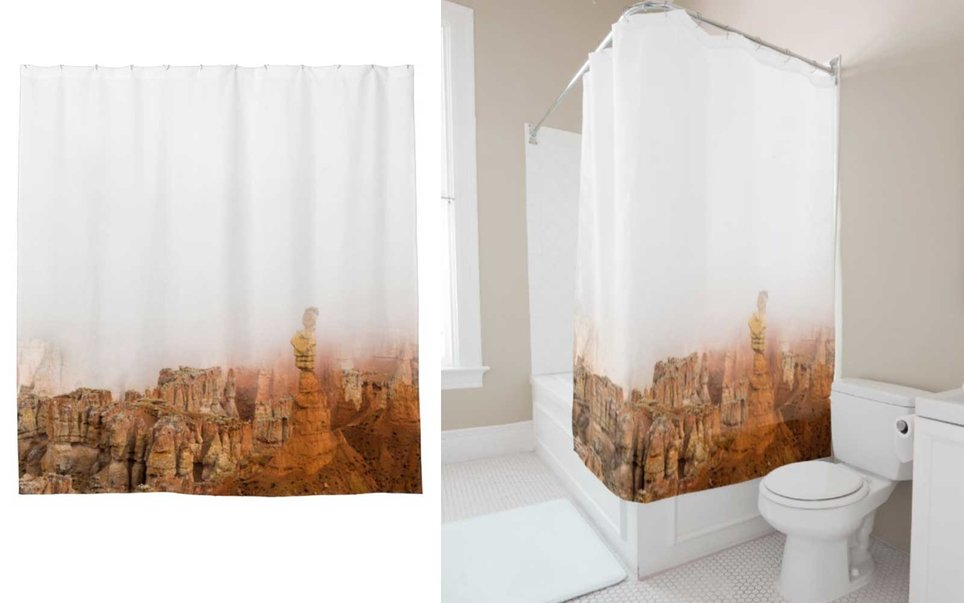 Or, my personal favorite, a shower curtain
