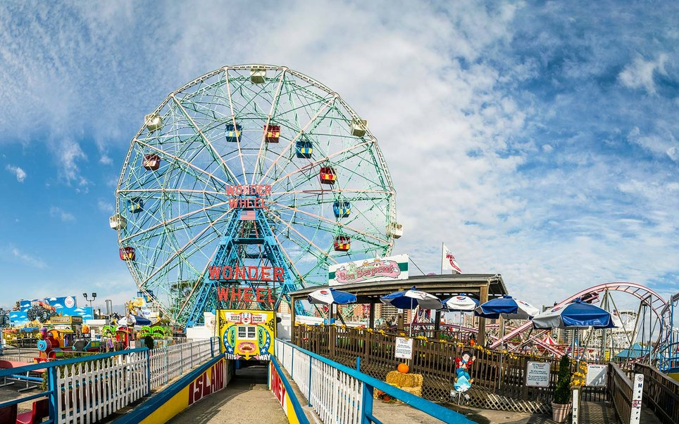 Fourth of July Independence Day Celebrations Holiday Wonder Wheel Luna Park Coney Island New York