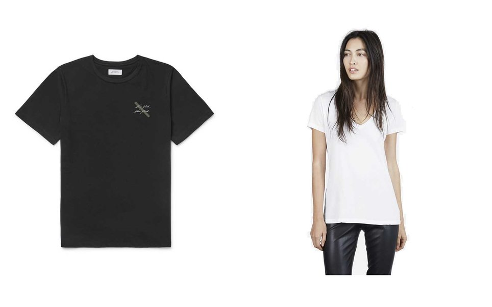 T-Shirts from Saturdays and Everlane