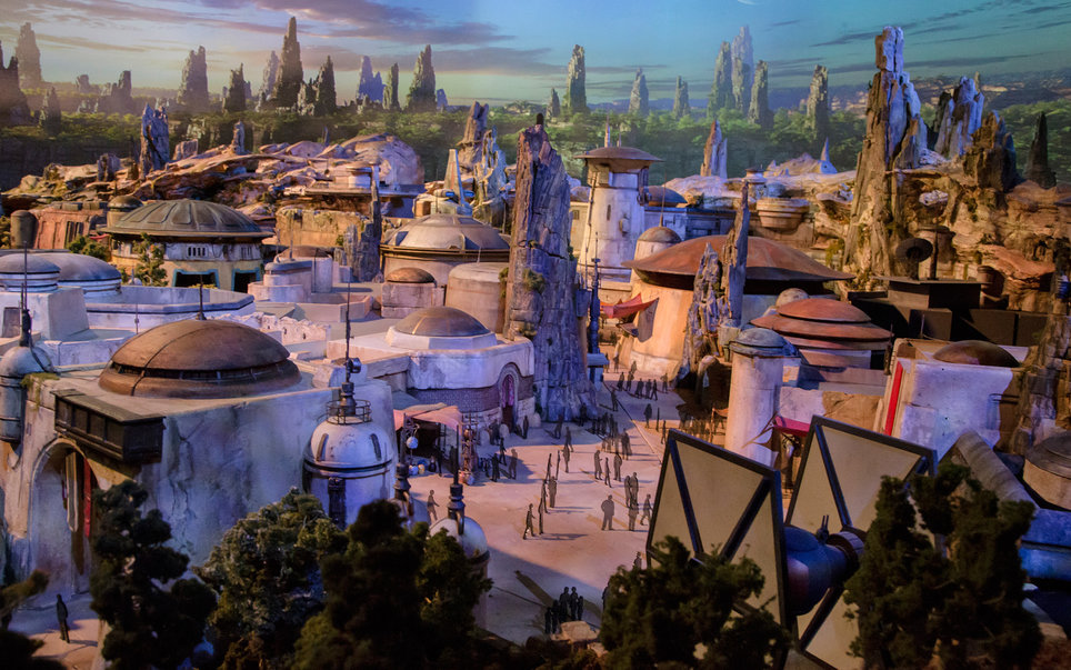 Disney reveals model of Star Wars Land.