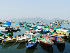 Cheung Chau Island off Coast of Hong Kong
