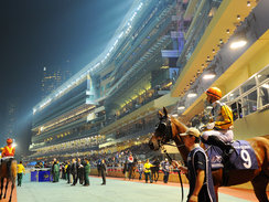 Happy Valley Racecourse in Hong Kong