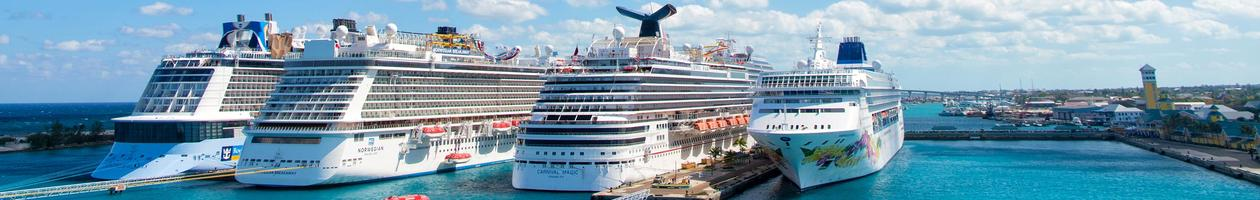 Cruise ships in port of Nassau, Bahamas