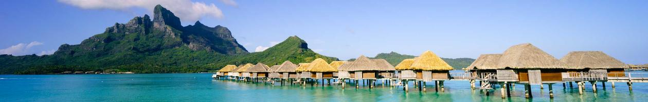 Beautiful panoramic of Bora Bora, Tahiti