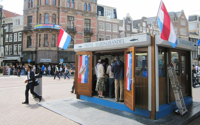 Frens Haringhandel Food Stall in Amsterdam