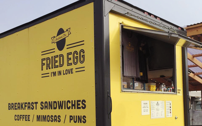 Fried Egg I'm In Love Food Truck in Portland