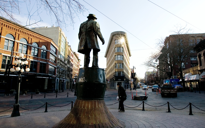 Gassy Jack's Statue in Vancouver