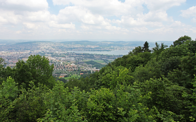 Uetliberg Mountain in Zurich