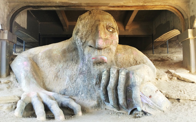 Fremont Troll Statue in Seattle