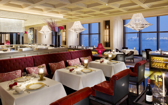 Caprice Restaurant in Four Seasons in Hong Kong