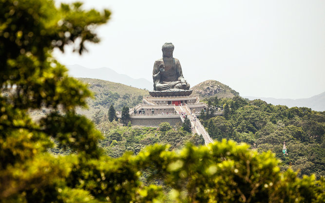 Tian Tan Buddha at Ngong Ping Lantau Island in Hong Kong