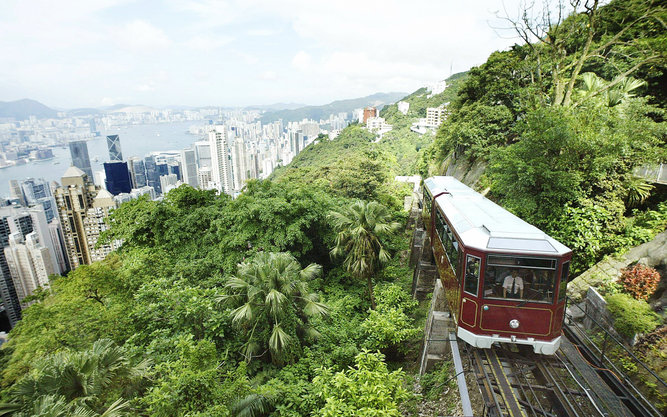 Victoria Peak Mountain Tram in Hong Kong