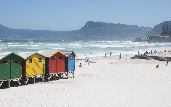 Muizenberg Beach in Cape Town