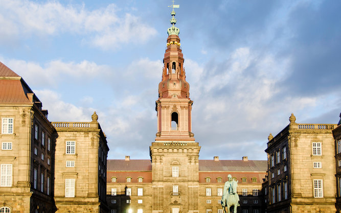 The Tower of Christiansborg Palace in Copenhagen