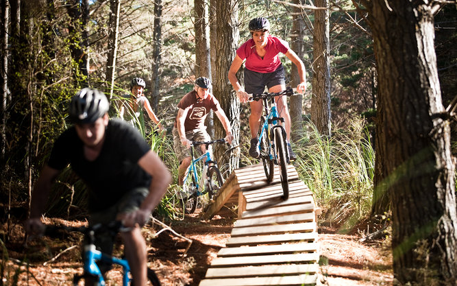 Woodhill Mountain Bike Park in Auckland