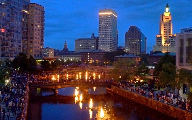WaterFire Sculpture in Rhode Island