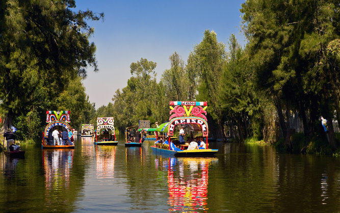 Xochimilco Borough in Mexico City