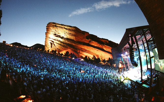 Red Rocks Amphitheater in Denver