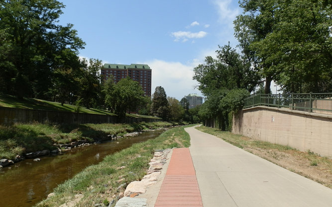 The Cherry Creek Bike Trail in Denver