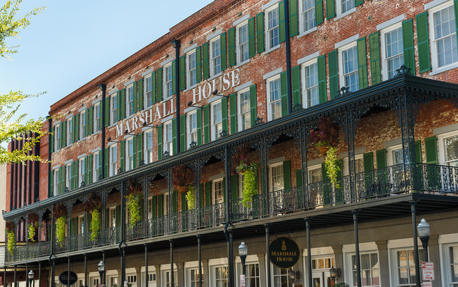 The Marshall House Hotel in Savannah