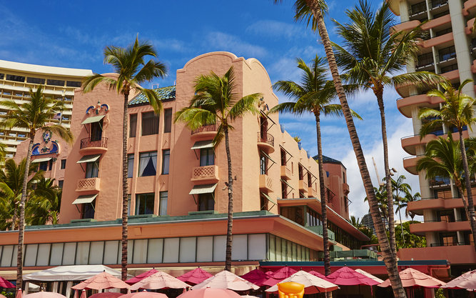 Royal Hawaiian Hotel in Oahu