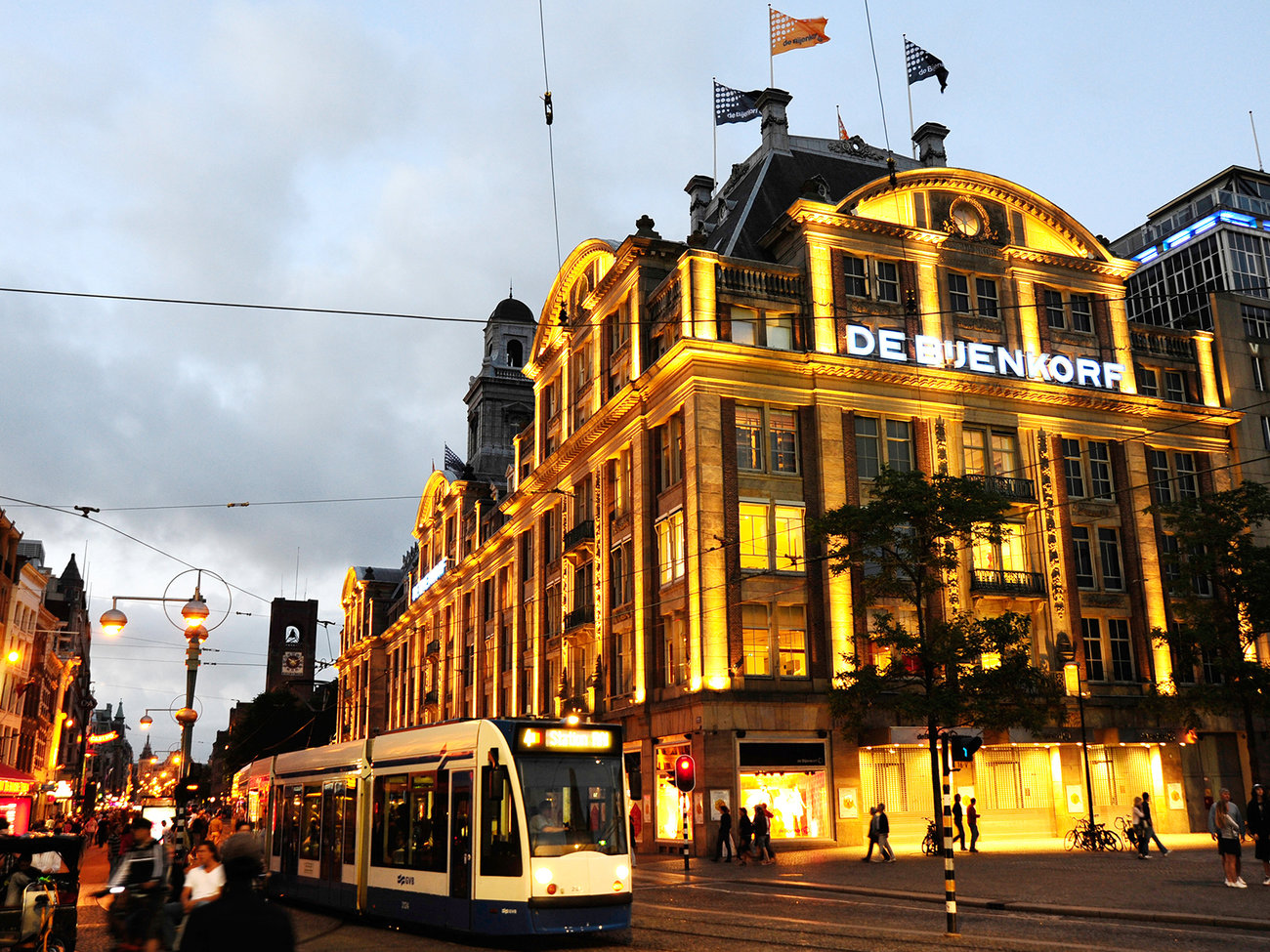 De Bijenkorf Department Store in Amsterdam