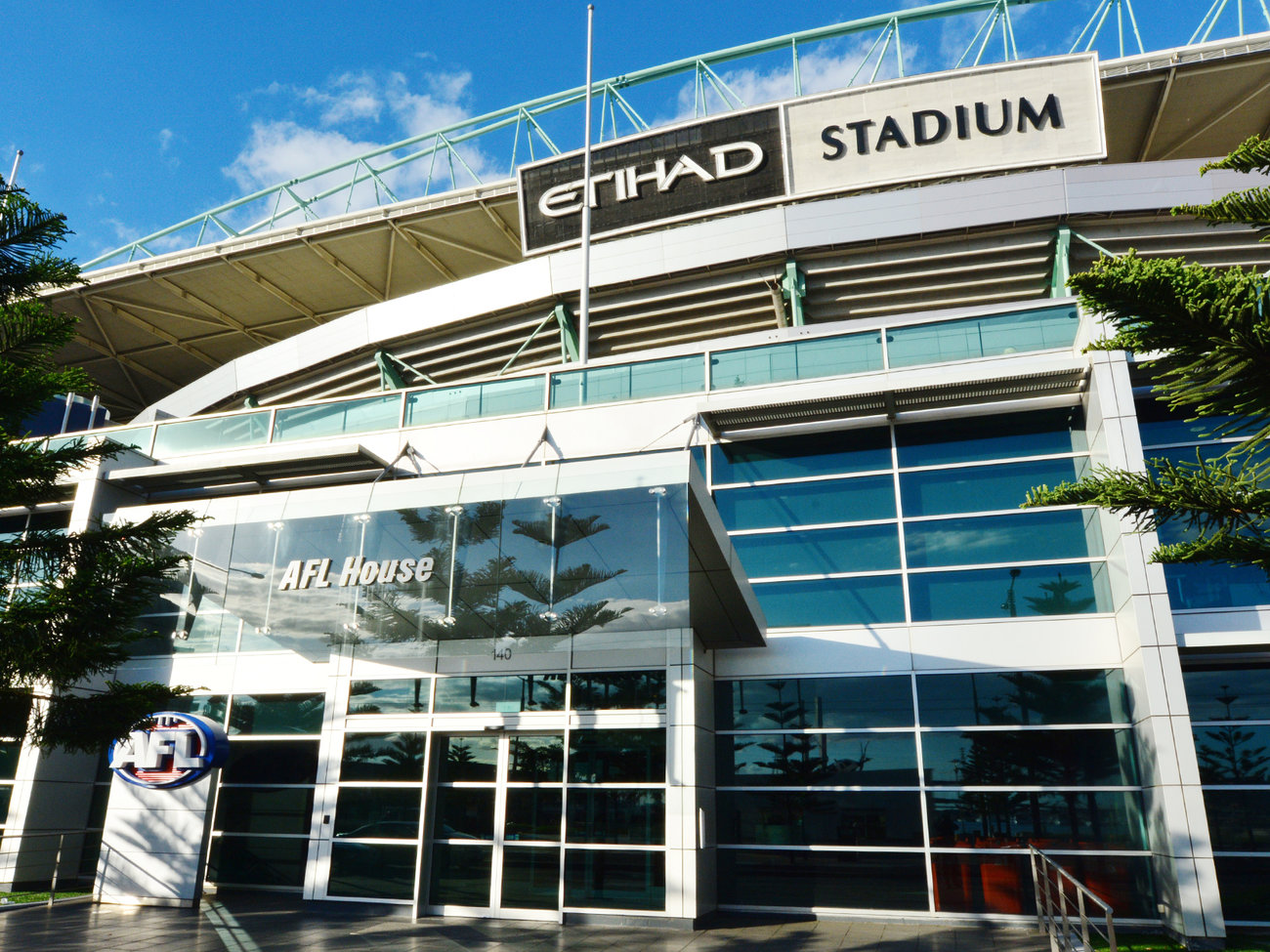 AFL Etihad Stadium in Melbourne