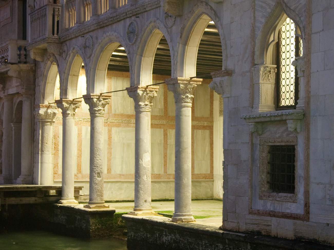 Ca' d'Oro Palace on Grand Canal in Venice
