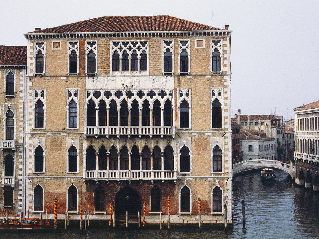 Ca' Foscari Palace on Grand Canal in Venice