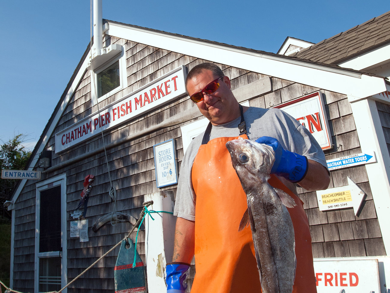 Chatham Pier Fish Market in Cape Cod