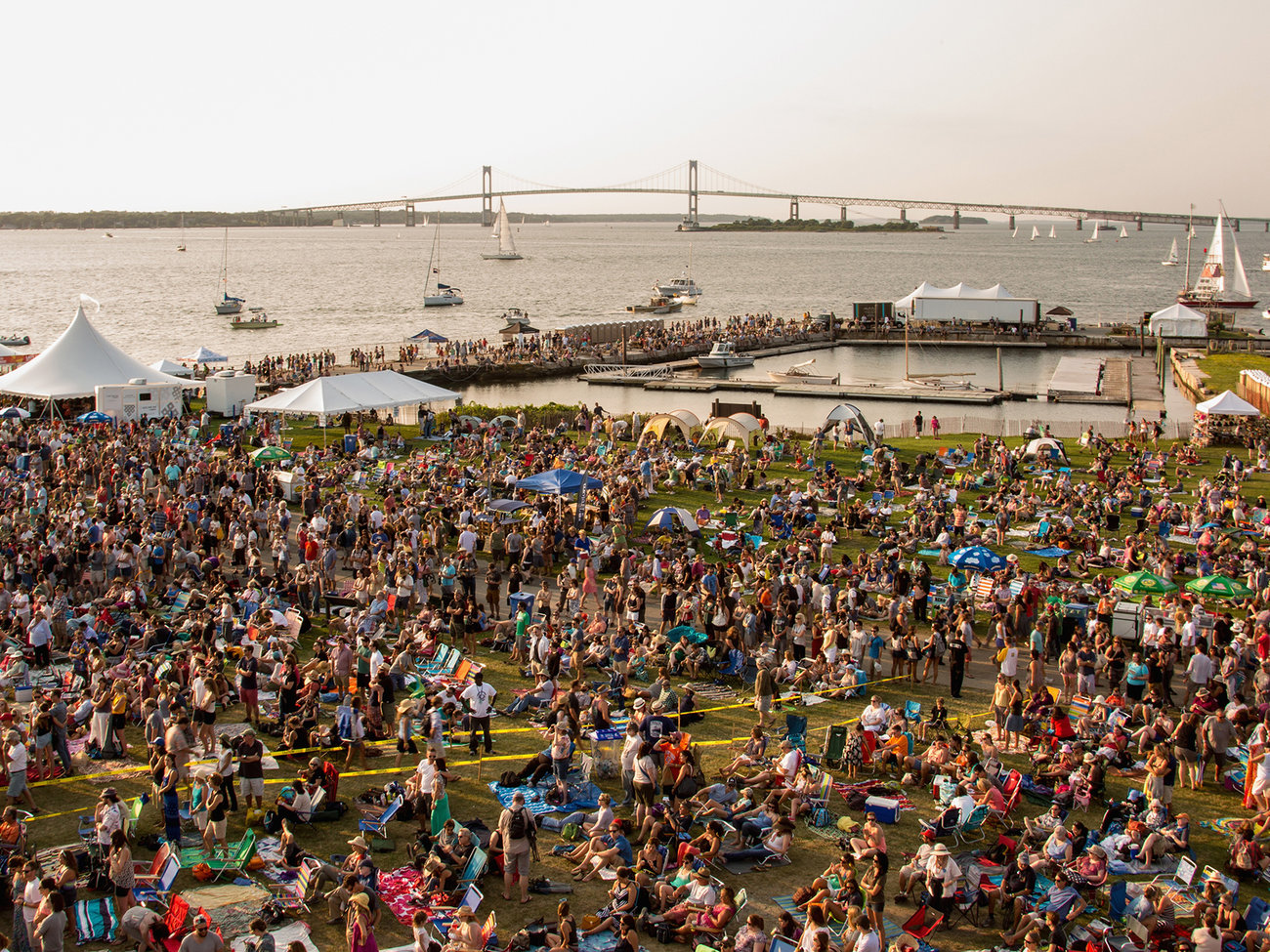 Newport Folk Festival at Fort Adams State Park in Rhode Island