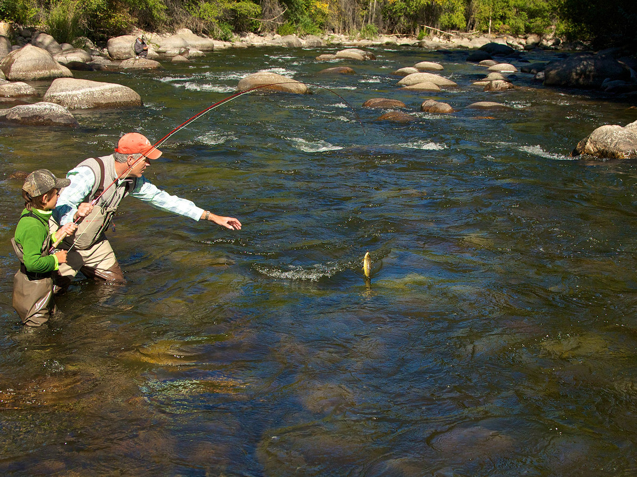 Gore Creek Fly Fisherman in Vail