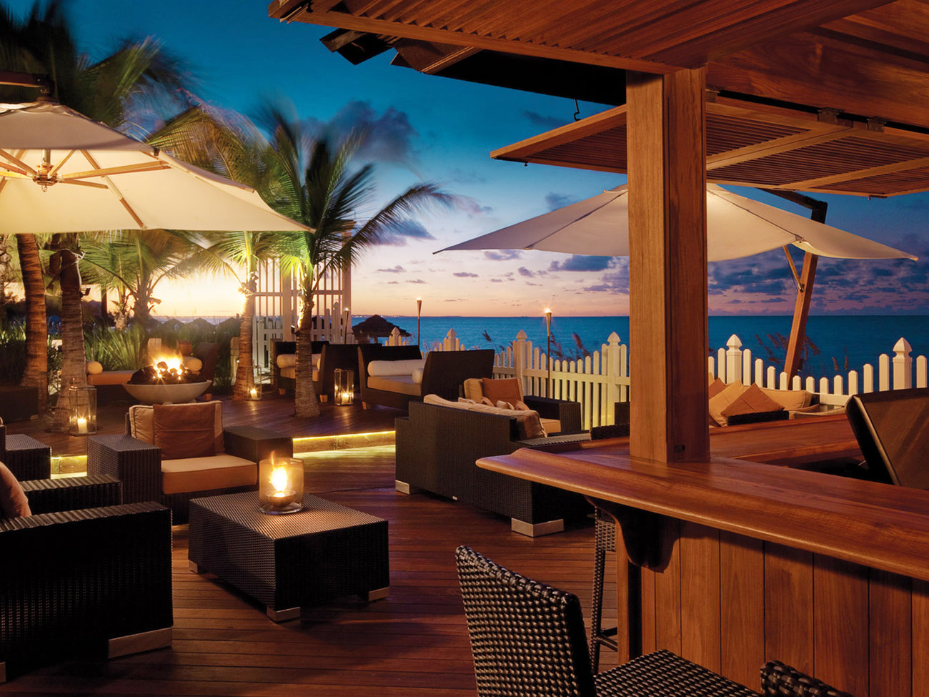 Deck Bar in Turks and Caicos