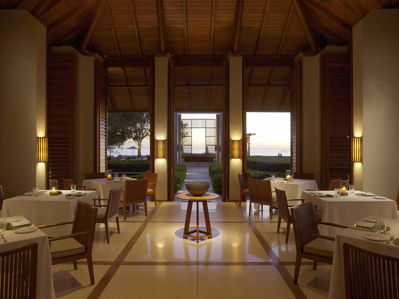 Restaurant at Amanyara in Turks and Caicos