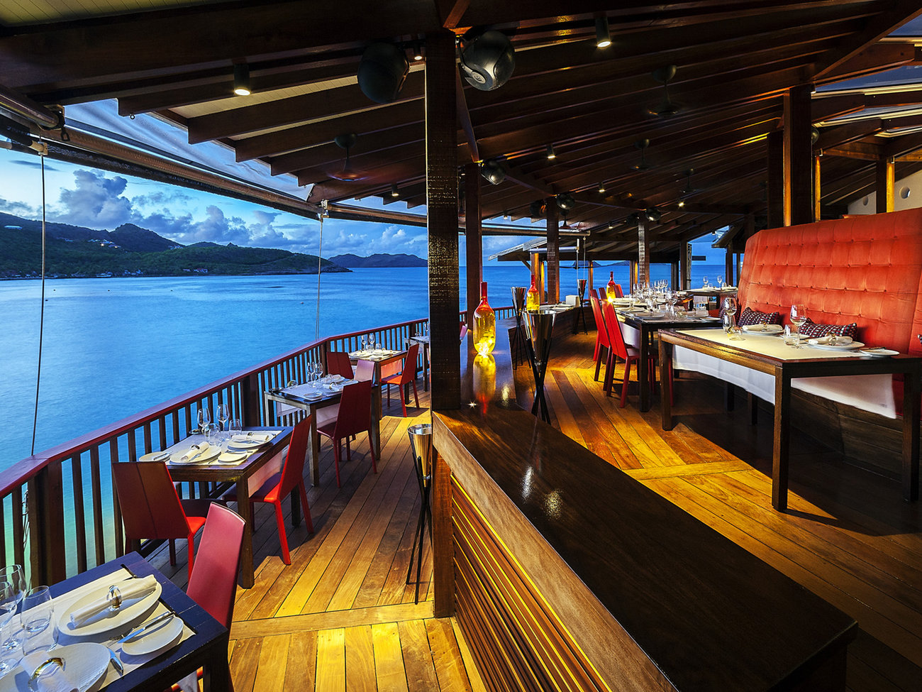 On-the-Rocks Restaurant in St. Barts