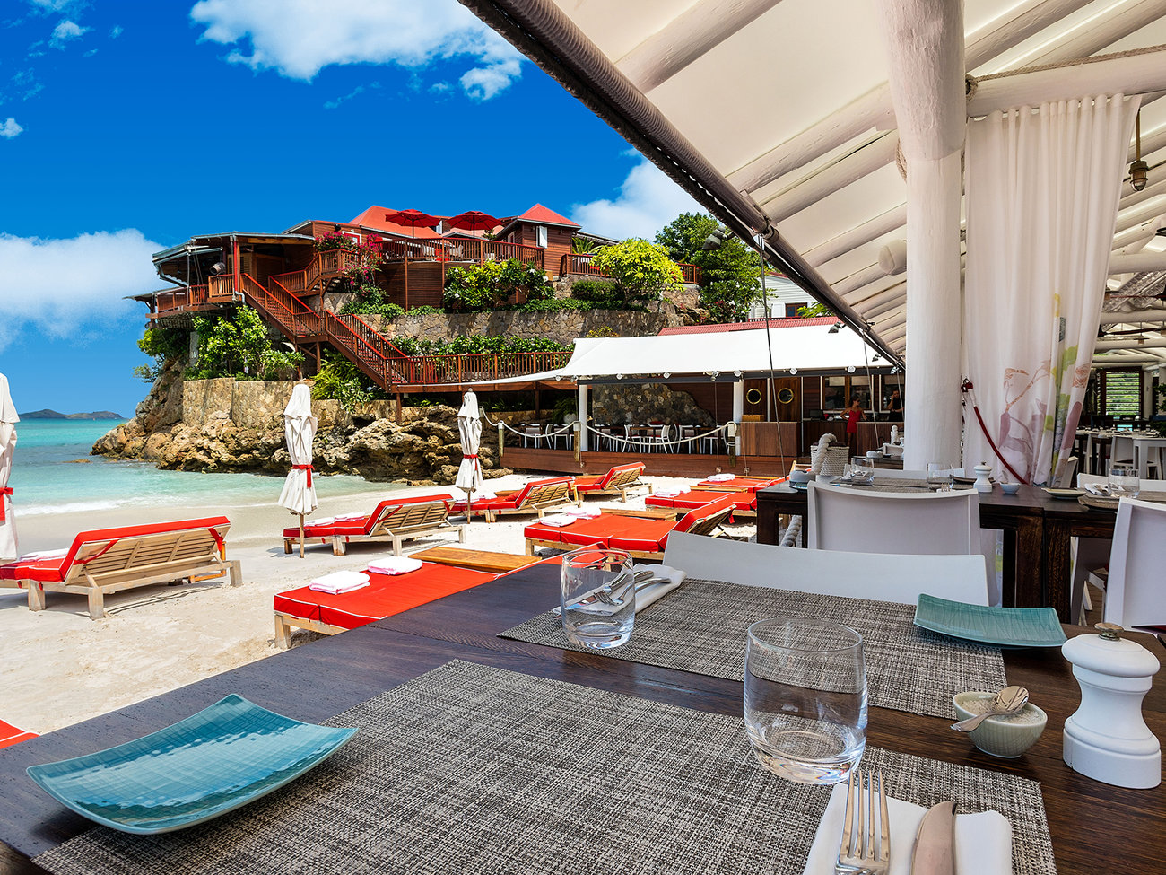 The Sand Bar with Jean Georges in St. Barts