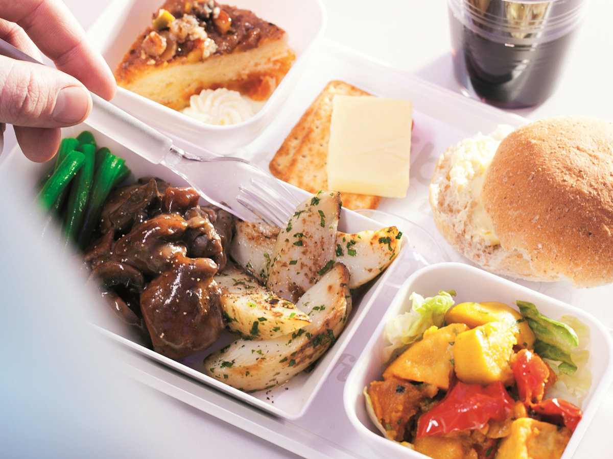 Air New Zealand economy class food