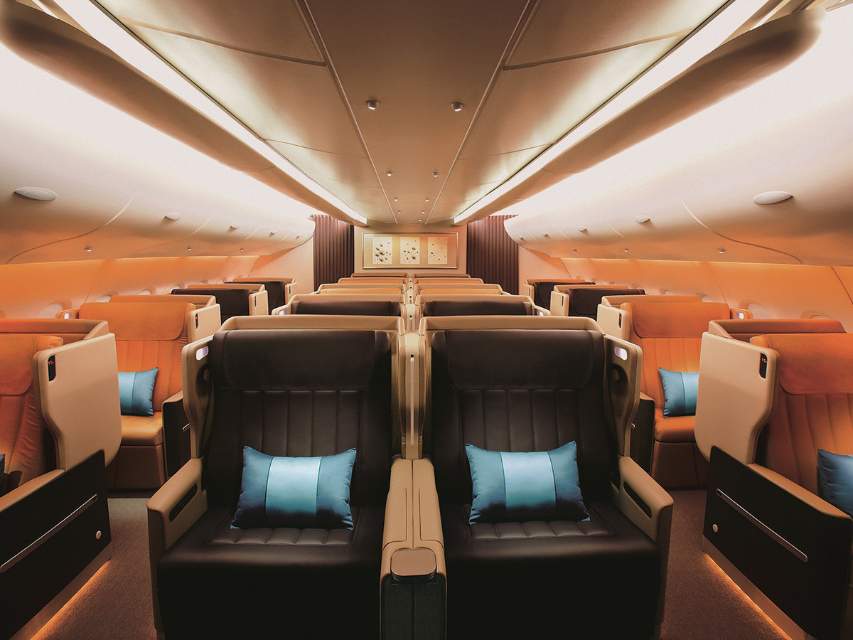 Singapore Airlines Business Class cabin design