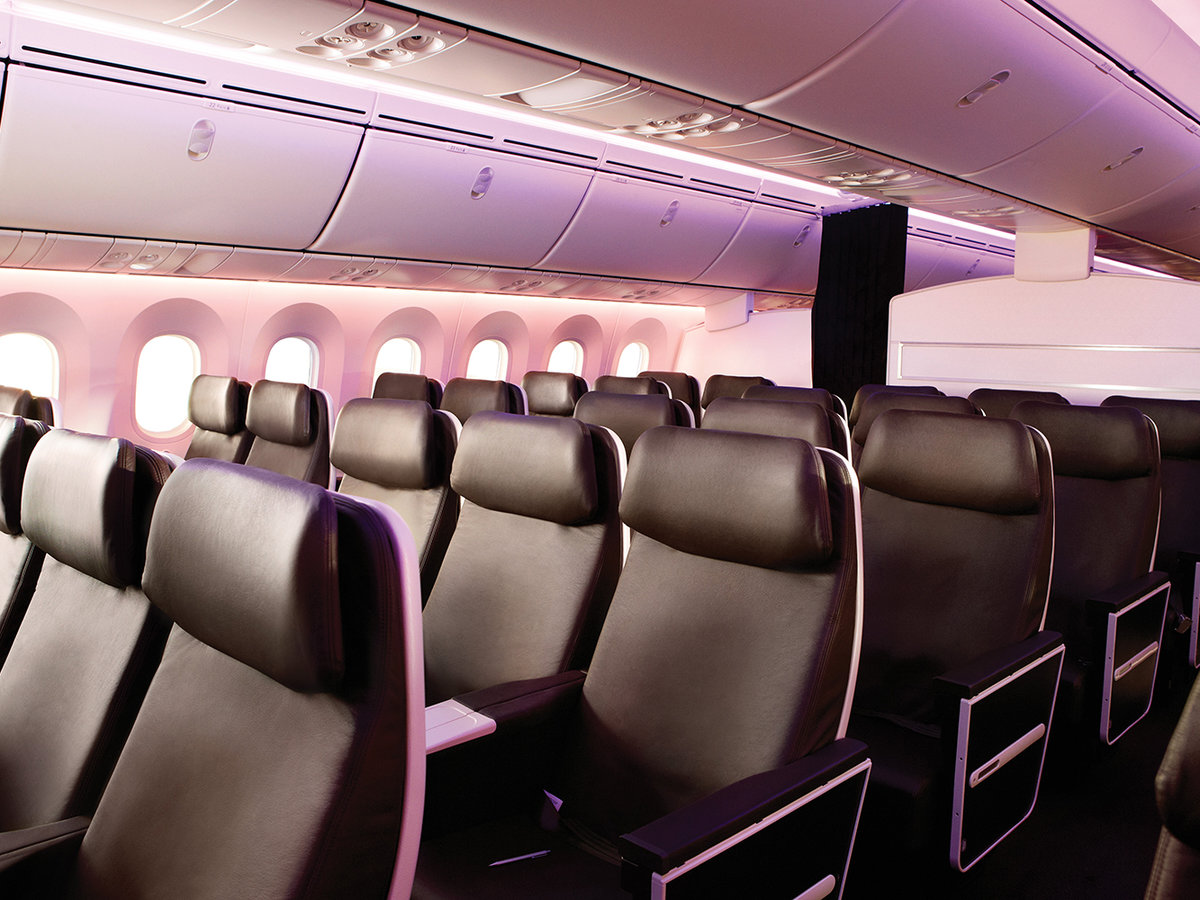 Virgin Atlantic premium economy cabin
