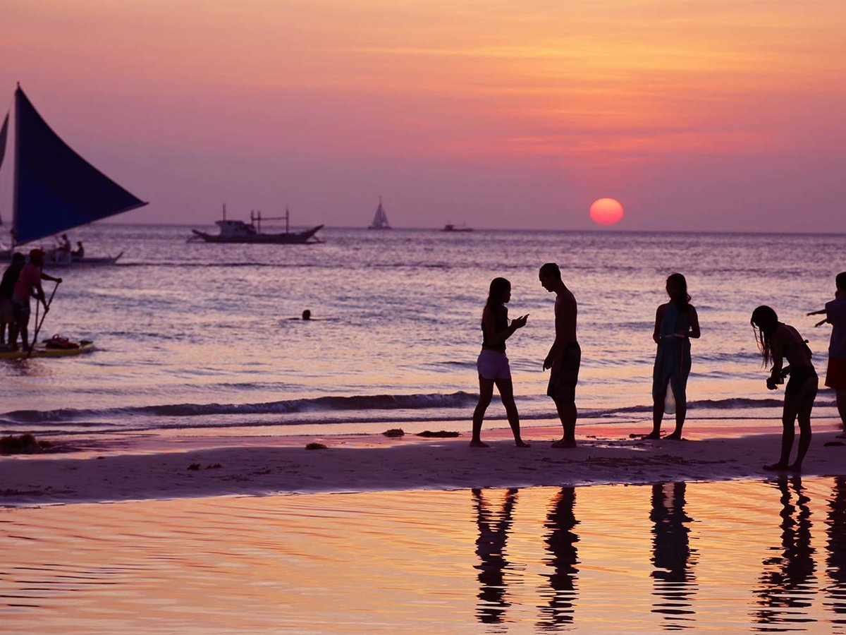 Sunset in Boracay, Phillippines