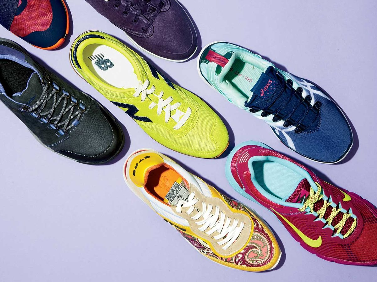 Assorted comfortable walking shoes
