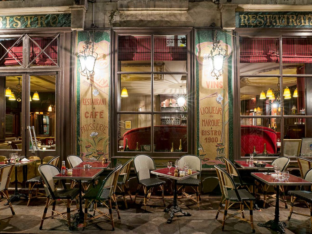 Cafe in the Saint Germain des Pres Neighborhood of Paris, France