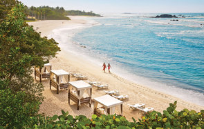 cabanas on the beach at Four Seasons Resort, Punta Mita, Mexico