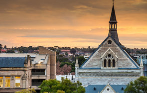 Downtown area of Adelaide city in Australia in morning; Shutterstock ID 313867787