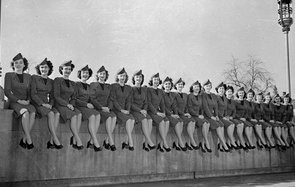 May 1946:  Some of the TWA (Trans World Airline) air hostesses selected to attend a course at the TWA headquarters in Kansas City, Missouri. They have been instructed in grooming, charm and poise, reading, conversational French and entertainment, and rece
