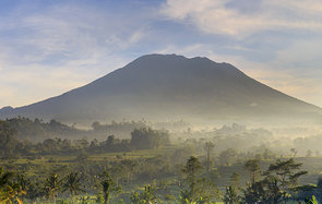 Bali Sidemen Valley Rice Fields and Gunung Agung Volcano Header